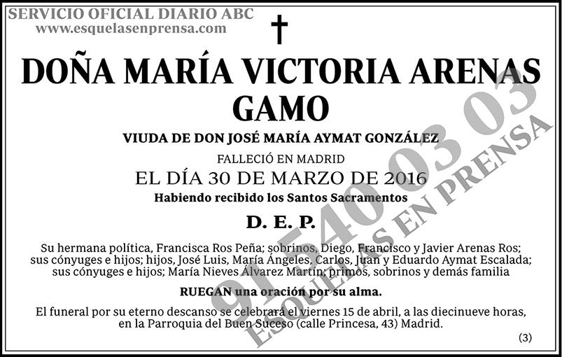 María Victoria Arenas Gamo